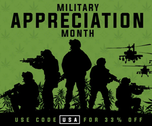 Military Appreciation Month   stonderdays shop   Cannabis3000 ad