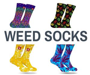 Weed Socks - stonerdays - Cannabis3000 ad